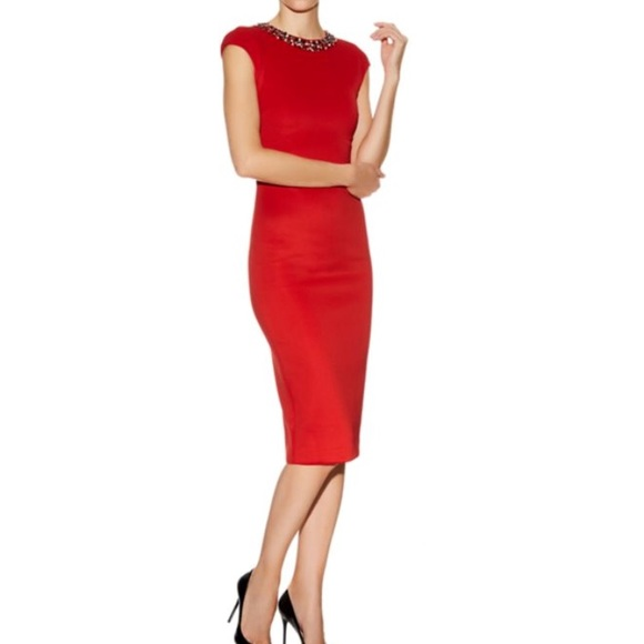 Ted Baker Lady In Red Sexy Dress